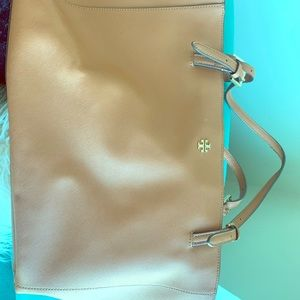 Tan Tori Burch Large Purse/Tote